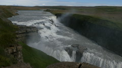 Gullfoss waterfall, Iceland, 4k Stock Footage