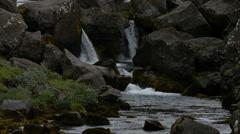 River in Thingvellir national park, Iceland, 4k Stock Footage