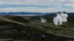 Nesjavellir Geothermal Power Station, Iceland, 4k Stock Footage
