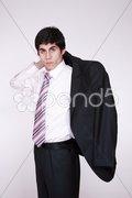 Portrait of successful business man Stock Photos
