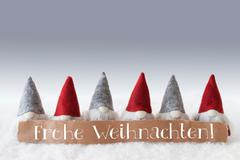 Gnomes, Green Background, Frohe Weihnachten Means Merry Christmas Kuvituskuvat