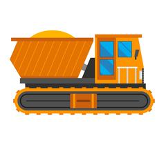 Caterpillar vehicle tractor vector Stock Illustration