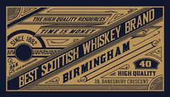 Old  label design for Whiskey Stock Illustration