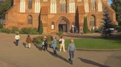 KALININGRAD, RUSSIA, Cathedral of Konigsberg Stock Footage
