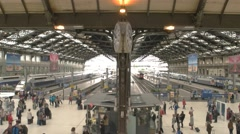 Daytime at the railway station. Stock Footage