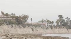 The Beach At The University Of California, Santa Barbara  Stock Footage