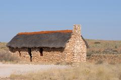 Historical settler home in the Kgalagadi Transfrontier Park Stock Photos