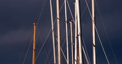 Yacht Masts 4K Stock Footage