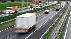 Four lane controlled-access highway in Poland... Stock Photos