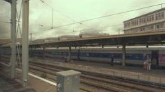 Trains near platforms. Stock Footage