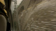 View from quickly moving train. Stock Footage