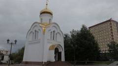 Russia Ivanovo revolution square church 4K Stock Footage
