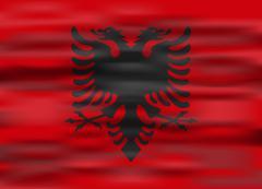 Realistic flag albania Stock Illustration