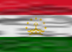 Realistic flag tajikistan Stock Illustration