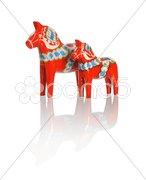 Dalecarlian horses Stock Photos