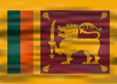 Realistic flag sri lanka Stock Illustration