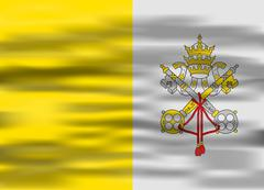 Realistic flag vatican city Stock Illustration
