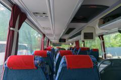 Interior of a bus Stock Photos