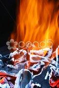 Hot embers Stock Photos