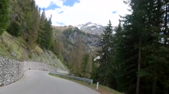 Driving a car through the tunnel to Santa Lucia in the Dolomites Stock Footage