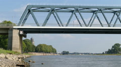 On the banks of the IJssel river in Deventer, time lapse Stock Footage