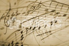 Musical notation background Stock Photos