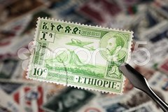 Stamp from Ethiopia Stock Photos