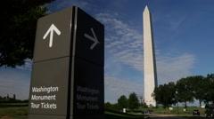 Washington Monument tour tickets tilt Stock Footage