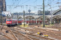Commuter Train in Germany Stock Photos