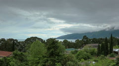 Movement of the clouds over the city Gagra, Abkhazia, Full HD Stock Footage