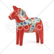Dalecarlian horse Stock Photos