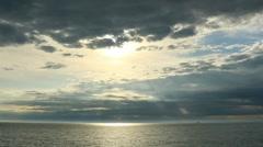 Timelapse sunset on the Black sea. Adler, Russia. Full HD Stock Footage