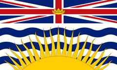 Flag of British Columbia in correct size and colors Stock Illustration