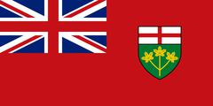 Flag of Ontario in correct proportions and colors Stock Illustration