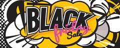 Colorful Black Friday Sale Comic Speech Style Banner Vector Illustration Stock Illustration