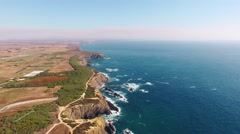 Land's End - the west coast of Portugal aerial view Stock Footage
