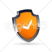 Shield with right tick Stock Illustration