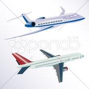 Aero plane Stock Illustration