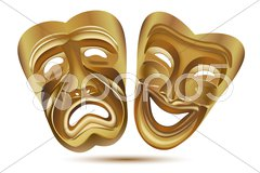 Entertainment masks Stock Illustration