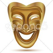 Entertainment mask Stock Illustration