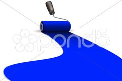 Paint-roller 2 Stock Illustration