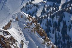Mountainscape in Salt Lake City, USA Stock Photos