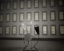 Light bulb CG animation Stock Photos