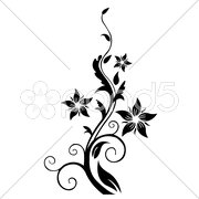 Floral tree Stock Illustration