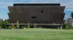 African American Museum south tilt cu Stock Footage