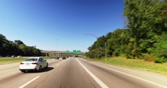 Driver's Perspective on I-480 Headed Towards Cleveland  	 Stock Footage