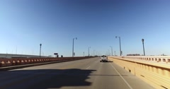 Driving Over Hope Memorial Bridge in Cleveland Ohio Stock Footage