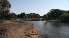 Elm Fork Trinity River in Lewisville Texas. Stock Footage
