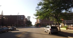Driving on West 9th Street in Downtown Cleveland  	 Arkistovideo