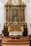 Interior of Church of Saint Cross, Znojmo, Czech Republic Stock Photos